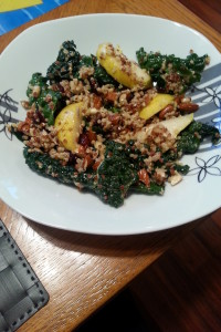 Kale, Pear and Quinoa Salad