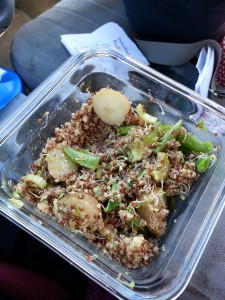 Salad, in the car